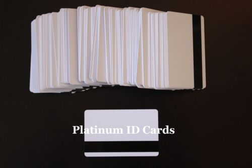 Lot 10 Mag Strip Smart Chip 4428 Gloss Blank Inkjet PVC ID Cards Epson Canon