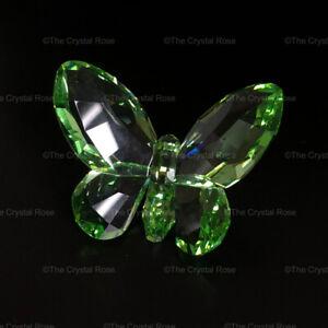 RARE-Retired-Swarovski-Crystal-Brilliant-Butterfly-Light-Peridot-855773-Boxed