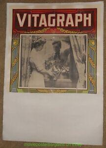 3 Vitagraph Póster Película'S Original Very Rare Early 582ms Unrestored en Lino