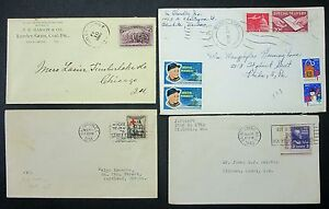 US-Postage-Cover-30c-Special-Delivery-Red-cross-Hanson-amp-Co-4-Letters-L-4098