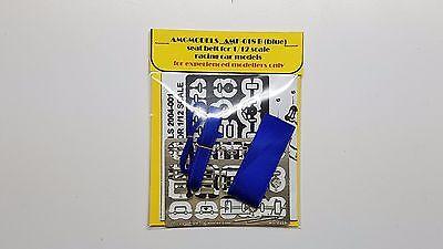 BLUE W// DECALS N// MG TAMIYA PROTAR MFH AMG SEAT BELT FOR 1//12 SCALE AMF-019B