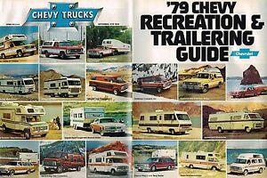 Details about 1979 Chevy RV / CAMPER Guide Brochure :  PickUp,VAN,Conversion,MotorHome,BLAZER,