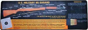 M1-Garand-Long-Gun-Cleaning-Bench-Mat-12-034-x-36-034-Extra-Large-Gaming-Mouse-Pad