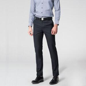 Men/'s Corduroy Slim Fit Skinny Business Formal Suit Dress Pants Slacks Trousers