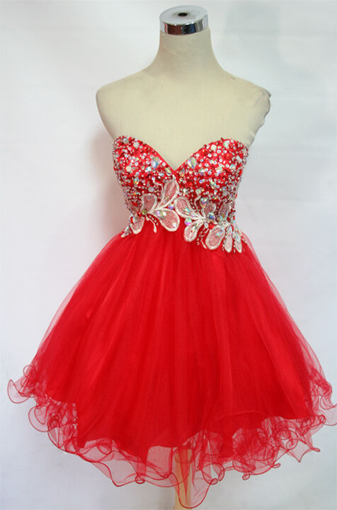 NWT WINDSOR  200 Red Strapless Prom Party Dance Gown 8