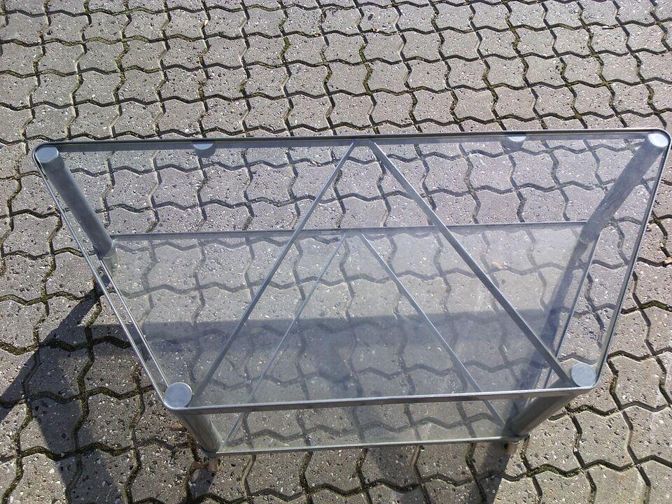 Plantebord, Metal / Glas