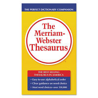 Merriam Webster The Merriam-webster Thesaurus Dictionary Companion Paperback 800