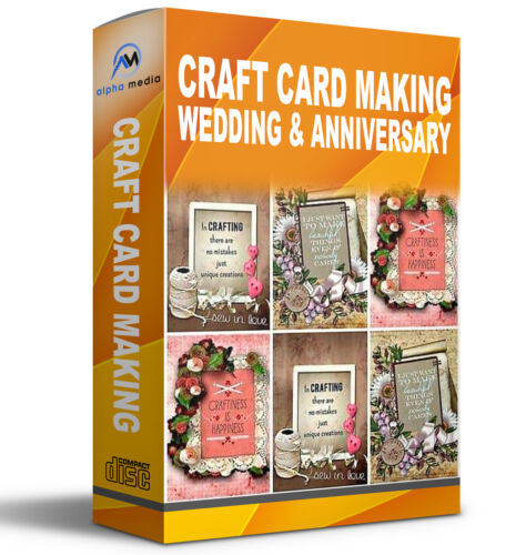 ANNIVERSARY /& WEDDING CRAFT CD CARD MAKING STATIONERY