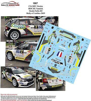 Décals 1//43ème Skoda Fabia R5 Ciamin N Rallye Vosges Grand Est 2019