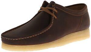 Men-039-s-Clarks-Original-Low-Wallabee-Shoe-Brown-Beeswax-Leather-26134200