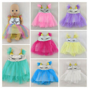 SEQUINED RAINBOW COLOUR DRESS CLOTHES FITS MY FIRST BABY ANNABELL DOLL