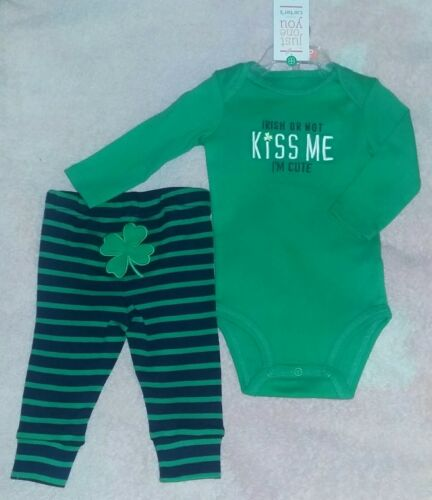 e9831f2d2 CARTER S JOY 6 Month Baby IRISH OR NOT KISS ME I M CUTE St Patrick ...