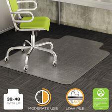 Deflecto DuraMat Moderate Use Chair Mat For Low Pile Carpet, 36 X 48 W/