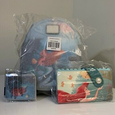 Loungefly Disney The Little Mermaid Ariel Grotto Cardholder ID Slim Wallet