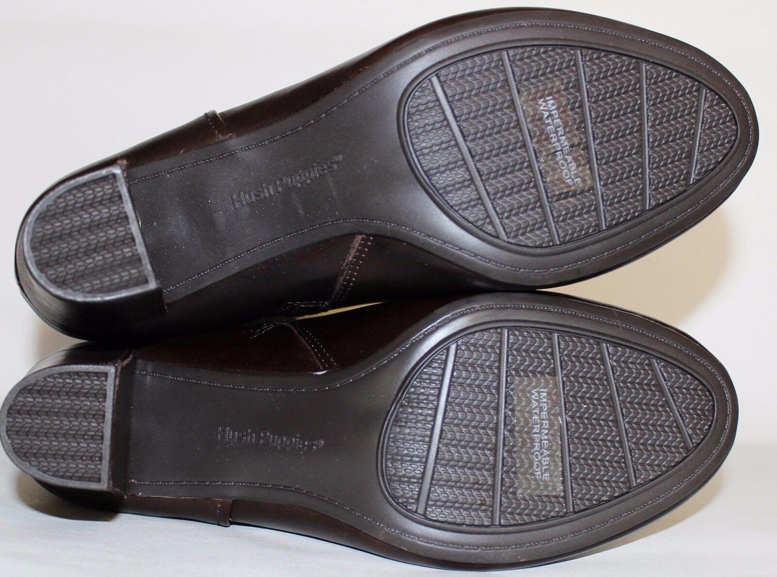 ✿HUSH PUPPIES Waterproof Braun Premium Leder 3