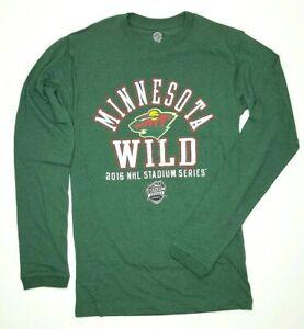 Minnesota-Wild-Men-039-s-Long-Sleeve-Tee-Green-Choose-Size-E