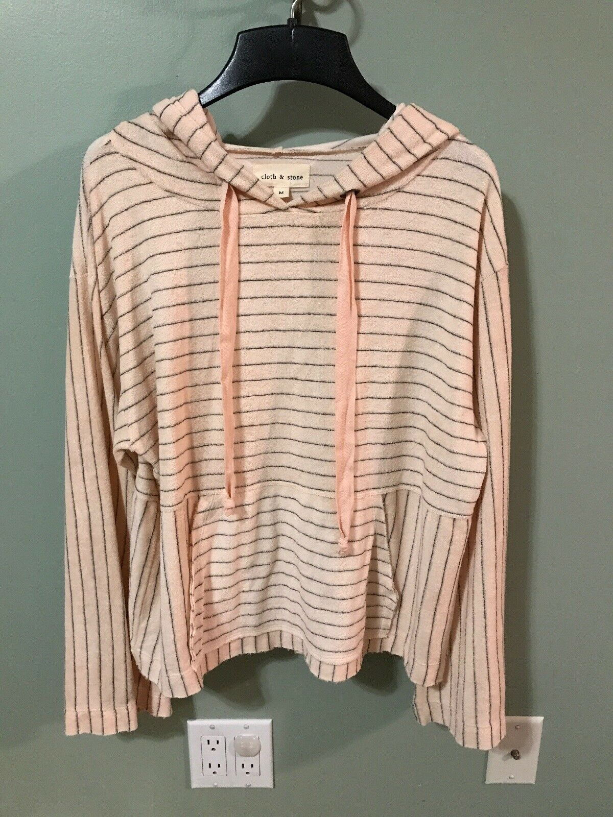 New Cloth & Stone Striped Terry Cloth Hoodie Size Size Size Medium 034c11