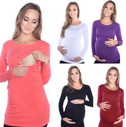 2 in1 Stillshirt Umstandsshirt Bluse Stilltop Stillbluse Umstandsmode Stilltops