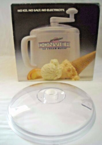 Donvier Premier 1-Quart Ice Cream Maker Lid Part with bushing