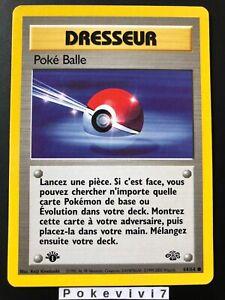 Carte-Pokemon-POKE-BALLE-64-64-Commune-Jungle-Wizard-EDITION-1-FR-NEUF