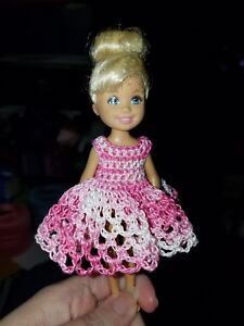 2dca4fb73 Hand crocheted Chelsea and Kelly Mattel doll clothes