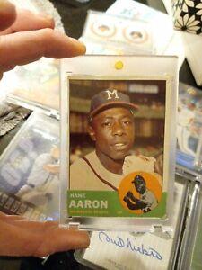 1963 Topps Hank Aaron Milwaukee Braves #390 Baseball Card