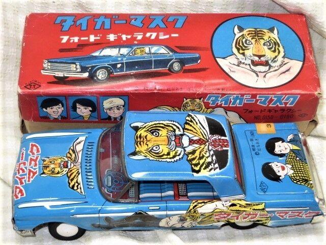 1960's Takatoruku Tiger Mask Ford Galaxy tinplate