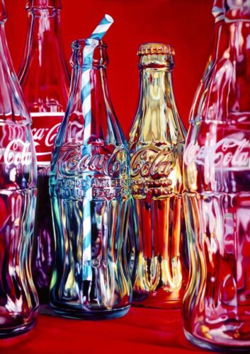 Art Print Poster Canvas Coca Cola  Pin Up Gir