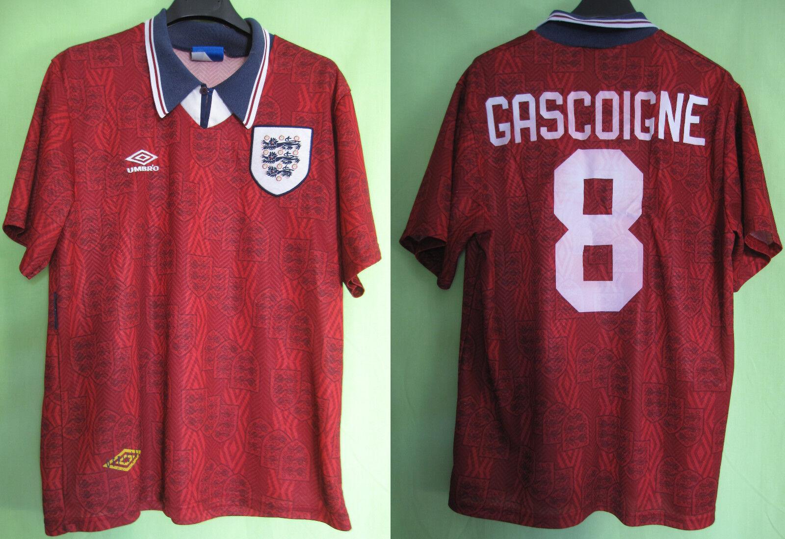 Maillot Angleterre Gascoigne England Jersey Umbro Away Football soccer - L
