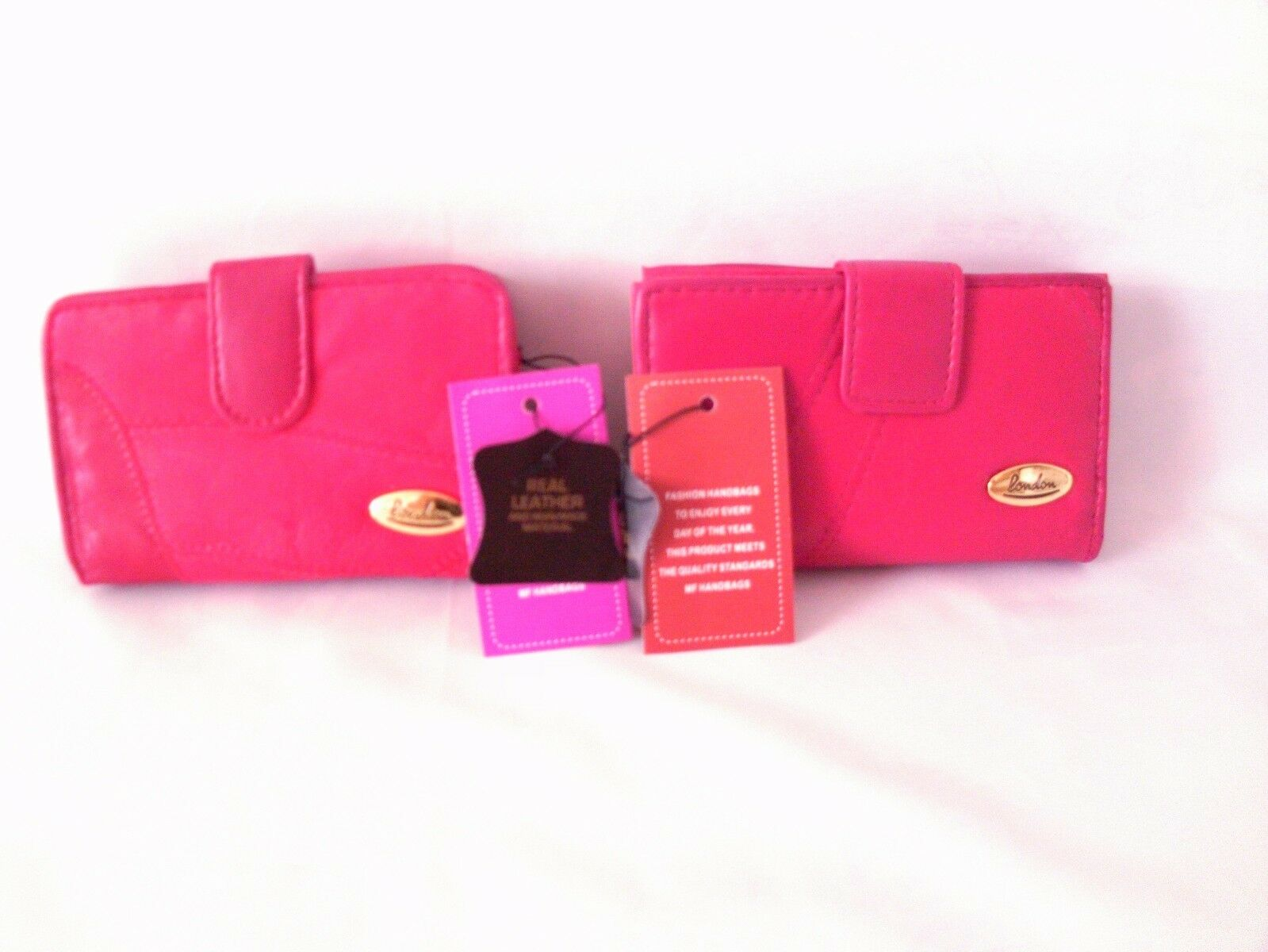 LADIES LONDON PATCHWORK LEATHER RED WALLET/PURSE ID COINS CARD SLOTS GIFT NEW