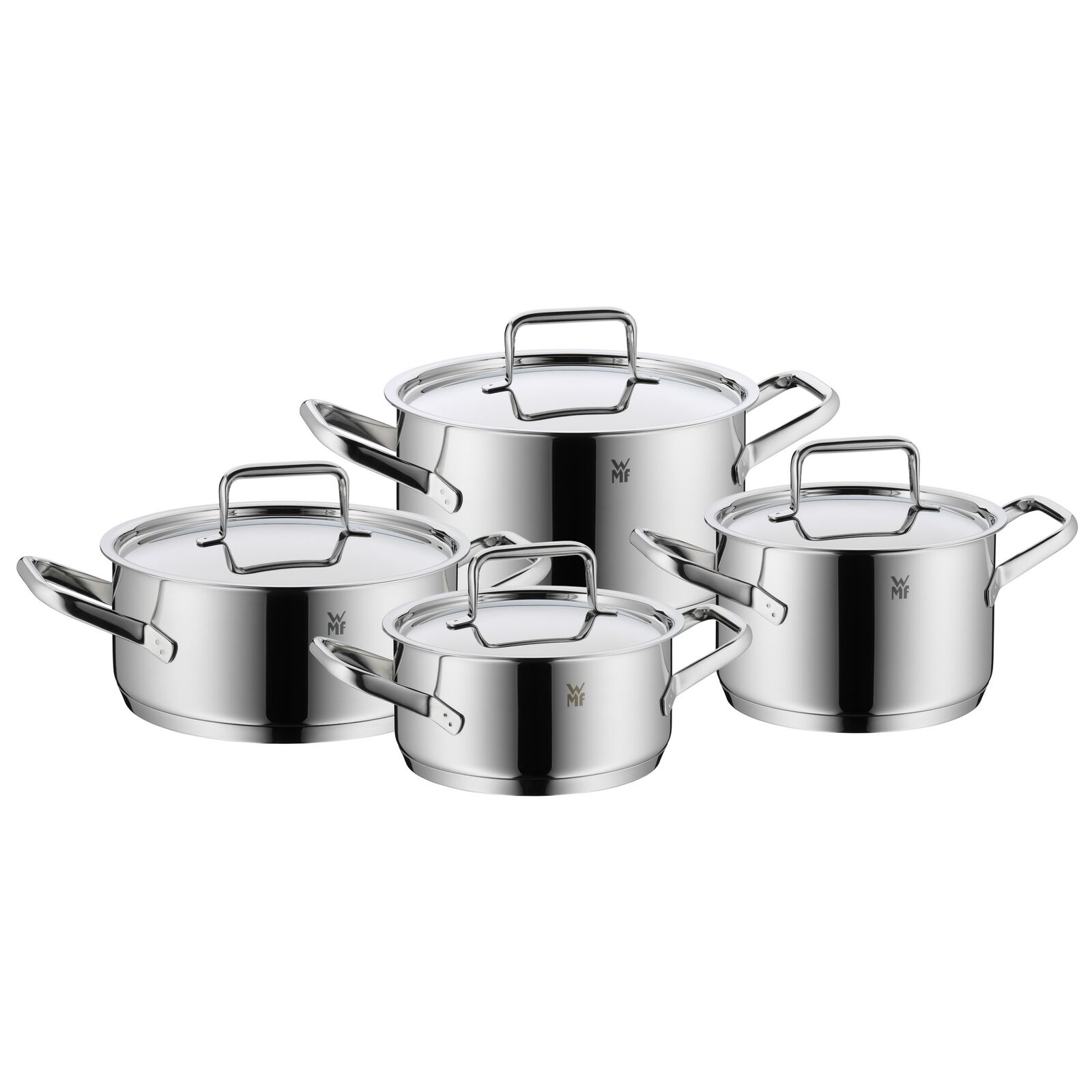 WMF Tendance Casserole-Set 4 pièces made in Germany hohlgriffe couvercle en verre Cromargan Edel