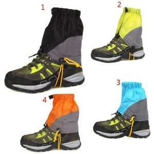 Waterproof-Outdoor-Shoes-Gaiters-Ultralight-Ankle-Foot-Cover-Hiking-Skiing-US