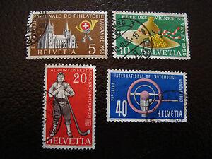 Switzerland-Stamp-Yvert-and-Tellier-N-558-A-561-Obl-A8-Stamp-Switzerland