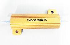 Gold Bar Power Resistor 250 Ohm 1 50w Lot Of 3