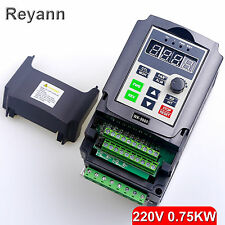 220V 0.75KW Single Phase Variable Speed Motor Drive Speed Frequency converter 4A