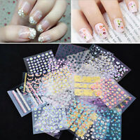 10pcs Chic 3D Design Nail Art Transfer Stickers Manicure Tips DIY Decal Decor