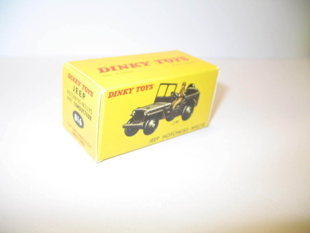 N25,  boite Jeep Willys  chauffeur 816 militaire DINKY