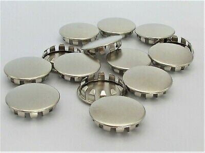 """1//4"""" Panel Plug Snap-in Boat Car 6 Pack Bright Nickel-Plated Steel Hole Plug"""