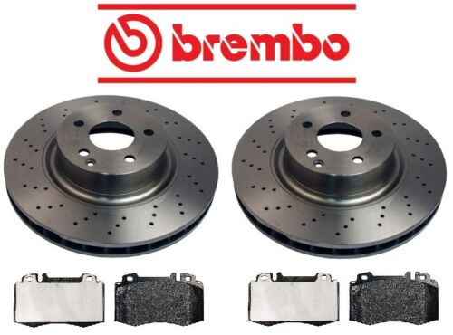 For Mercedes W220 S500 2000-2002 Front Disc Brake Rotors /& Pads Brembo//Genuine