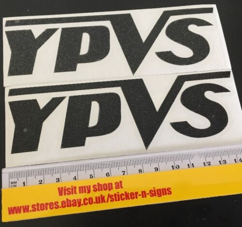 2x Black YPVS Sticker Decal 150mm X 47mm Stickers Decal
