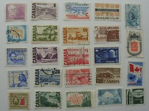 115-Different-Used-Canada-Stamps-Fine-To-Very-Fine-No-Damage