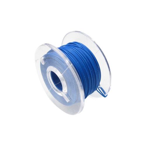 Câble Micro-Toron flexible FEP 0,014 mmâ² Bleu 10 Km Bobine maquettes modélisme