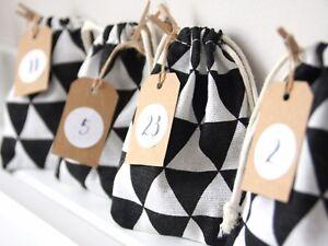 adventskalender girlande zum selber bef llen aufh ngen advents ckchen m nner ebay. Black Bedroom Furniture Sets. Home Design Ideas