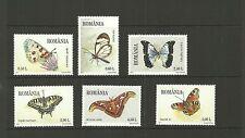 Rumania SG7117-7122 Mariposas & polillas Set estampillada sin montar o nunca montada