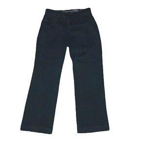 Lee-Women-039-s-Size-4-Petite-Comfort-Waistband-Pants-Black-Straight-Flap-Pockets