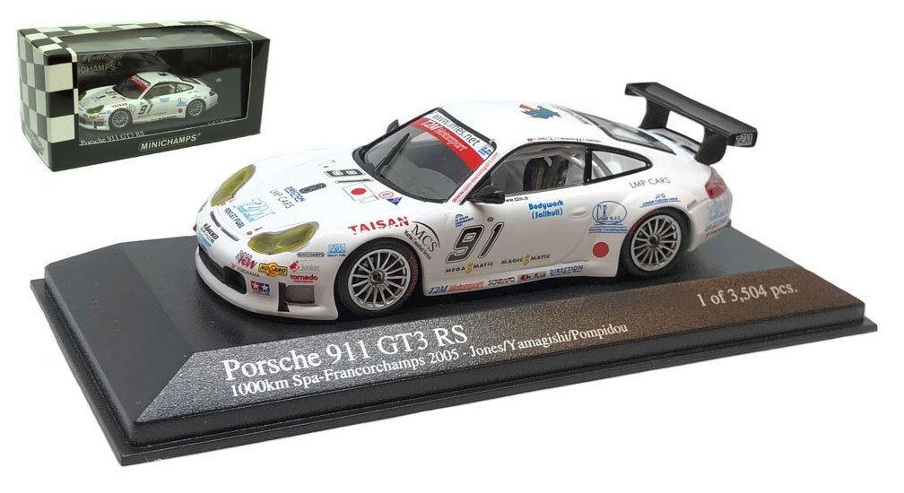 Minichamps Porsche 911 GT3 RSR 'T2M' 1000km Spa 2005 - 1 43 Scale