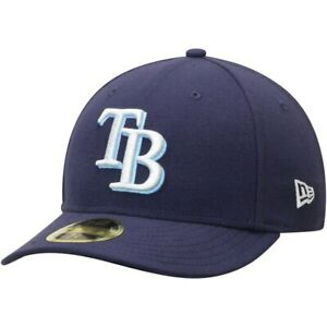 Tampa-Bay-Rays-Men-039-s-New-Era-MLB-Authentic-Navy-Low-Profile-59FIFTY-Game-Cap