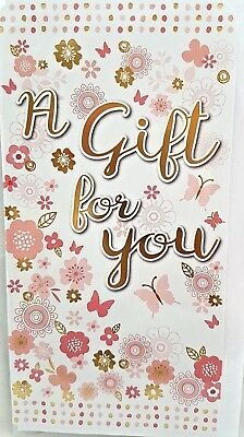 BIRTHDAY MONEY WALLET GIFT CARD WITH ENVELOPE ~ BUTTERFLIES DESIGN QUALITY