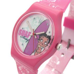 Betty-Boop-Ladies-or-Girls-Watch-Pink-Surf-Bikini-14a