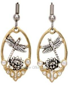 Dragonfly-Earrings-Gold-Silver-Plated-Design-Handcrafted-Jewelry-Dangle-New-Gift